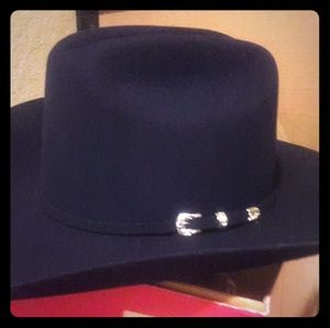 b16a2f234fa4d NEW IN BOX  THE STETSON BLACK COWBOY GIRL HAT